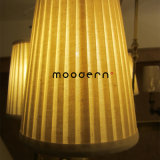 Tela ininflamable blanca decorativa del satén del estilo americano y lámpara de cobre del anillo E14 LED de los bulbos circulares de cobre amarillo de la vela