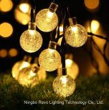 indicatore luminoso solare impermeabile della stringa della sfera di cristallo 20LED per la decorazione (RS1015)