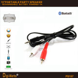 """15 """" 다기능 옥외 Bluetooth 건전지 USB 마이크로 SD 운반 스피커"""