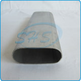 Tubes ovales dégrossis plats de grande taille en acier d'acier inoxydable