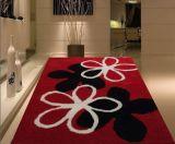 1200d alfombra lanuda de seda del poliester 3D