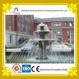 Fontana di acqua di marmo stratificata decorativa dello stagno della colonna