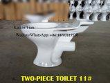 Le lavage à grande eau de comité d'entreprise européen d'articles sanitaires/vider en deux pièces de densité P-Enferment 180mm