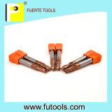Herramientas que muelen de la nariz de la bola del carburo de tungsteno para el alto proceso de acero