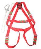두 배 가죽 끈 방아끈을%s 가진 폴리에스테 하네스 산업 안전 벨트