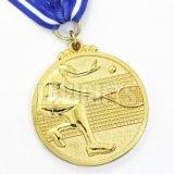 Ouro feito-à-medida o metal chapeado gravado personalizado laser original a medalha em branco conhecida com etiqueta da impressão introduz o logotipo