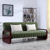 Morden Art 2 gefaltetes Trible Gewebe-Sofa-Bett für Wohnzimmer