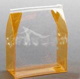 Le renivellement clair réutilisé met en sac le sac cosmétique imperméable à l'eau de PVC avec la tirette