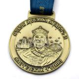 Medaglione placcato antico su ordinazione della medaglia del premio di sport di nuovo disegno all'ingrosso 3D Souvenirmetal