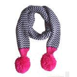 Reeks van de Hoed van de Sjaal van de Dekking van de Tik van de Handschoenen van de Sjaal POM Beanie van de Draai POM van de Kabel van de Winter van de Meisjes van de Kinderen van jonge geitjes de Unisex-3PC Lange (SK403S)