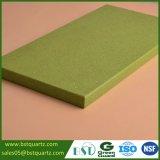 Glanzende Groene Countertop van de Steen van het Kwarts voor Keuken