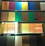 200/300/400 hoja de la decoración del color del acero inoxidable