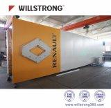 Material de aluminio de Compoite del panel plegable de la señalización del blanco LED de la aduana 3m m