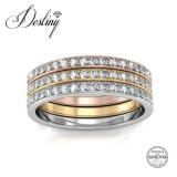 Cristal de la joyería del destino del anillo bastante perfecto de Swarovski