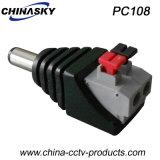CCTV力Screwlessの端子ブロック(PC108)が付いている男性DCのコネクター
