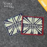 China-Fabrik-Filz-Hintergrund-Eisen auf Druck-Marken-Abzeichen