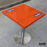 Kkr Blanco acrílico Solid Surface restaurante Mesas de comedor (KKR-T1408053)