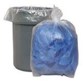 Forro plástico embalado transparente do lixo do rolo de selo da estrela do LDPE