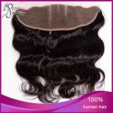 Frontal profundo humano do laço da onda do cabelo 13X4 do Virgin 100%Unprocessed