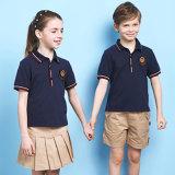 Polo Shirt&Shorts d'Unifrom de qualité et modèle primaire d'uniforme scolaire de jupe