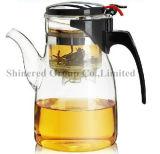 High Capacity 900ml Hotel e Restaurante Borosilicate Glass Tea Pot Pot De Suco