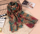 5 Farben-Qualitäts-Polyester-Chiffon- Dame Fashionable Scarf