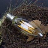 bombilla de 2With3With5With8W C35 LED para la cubierta, claro ambarino