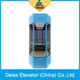 Vvvf Zugkraft, die Kapsel-besichtigenbeobachtungs-panoramischen Aufzug fährt
