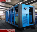 Hoher leistungsfähiger Luft-Ventilator-abkühlender Schrauben-Luftverdichter