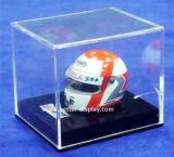 Изготовленный на заказ акриловый стеллаж для выставки товаров шлема