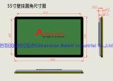 Painel de anúncio interno do LCD do indicador 55 que anuncia o Signage de Digitas