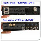 Schroffes 4G WiFi 4CH Festplattenlaufwerk bewegliches DVR für Fahrzeug-Bus-Autos CCTV-Überwachung