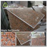 Telha vermelha cor-de-rosa de venda quente do granito G687/G664/G562/G681/G635 para o revestimento do assoalho/parede