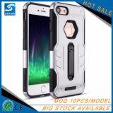 Caja del teléfono del capítulo TPU de la PC de Stander del anillo del metal del precio bajo para el iPhone 8