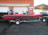 Шлюпка мотора Китая Aqualand 19feet 5.8m твердые раздувные/патруль/подныривание/спасательная лодка нервюры (rib580t)