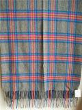 Sjaal van de Plaid van het kasjmier de Grijze voor Koud Weer