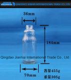 絶妙なデザインミルクおよびジュースのガラスビン