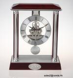Orologio di scheletro di mogano della Tabella del pendolo
