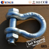 Wir Typ Stahl schmiedeten galvanisierte Bogen-Fessel mit Sicherungsstift