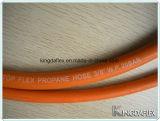 Boyau orange de gaz de tuyaux d'air de LPG de basse température de 1/4 pouce