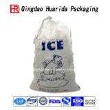 Оптовая продажа подгоняла напечатанные логосом мешки льда Whicketed с ручкой