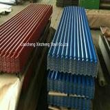 Hoja de acero revestida del material para techos de Galvanzied del color de Pre-Paintd (0.13--0.8m m)