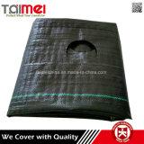 Couvre-tapis de Weed de tissu tissé par pp de la Chine en roulis
