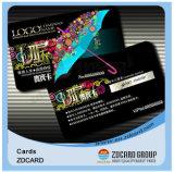 Cartão plástico do presente do PVC da impressão do negócio da cor cheia