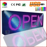 LED P10RGB Outdoor Full Color Iscriviti USB programmabile rotolamento Informazioni Display a LED dello schermo 38X12.6 pollici