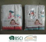 Baby-Tuch 100% der Baumwolle2pc eingestellt mit Stickerei