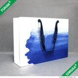 Sacs à provisions de papier estampés par coutume à extrémité élevé