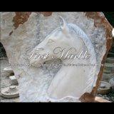 Fontana di pietra naturale del cavallo per la mobilia Mf-1026 del giardino