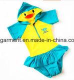 아이 소년 수영복. 동물성 만화는 낙하산 강하복 수영 착용을 인쇄했다