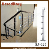 Modèle de pêche à la traîne de Rod de balustrade de plaque en acier en métal pour les escaliers intérieurs (SJ-H1348)